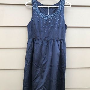 Fossil Navy Party Dress with Sequin Details